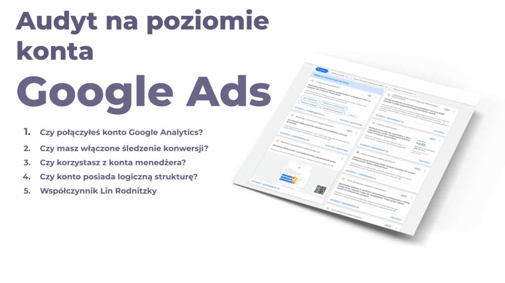 audyt google ads na poziomie konta
