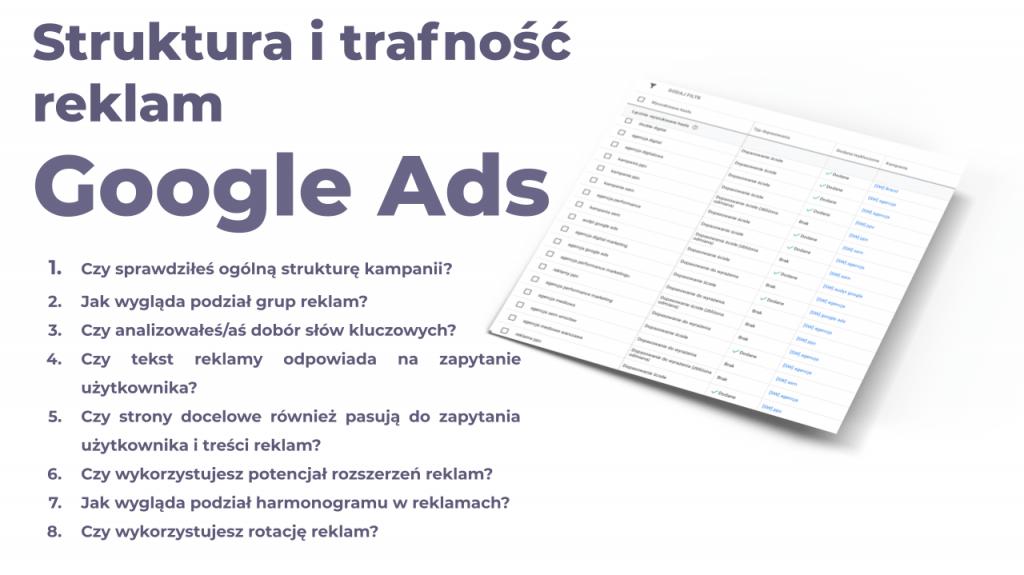 audyt struktury kampanii google ads