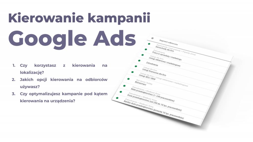 kierowanie na odbiorców google ads